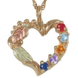 10K Gold Mothers Birthstone Pendant
