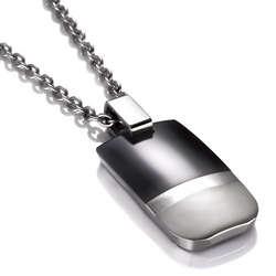EM Titanium Tuxedo Necklace