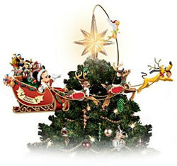 Illuminated Rotating Mickey Mouse Christmas Tree Topper