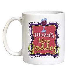 Personalized Wine Goddess Mug