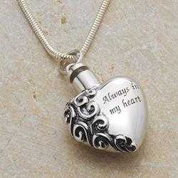 Sterling Silver Ash Holder Necklace