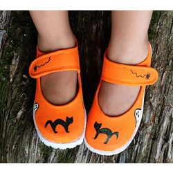 Girl's Halloween Cat Shoes