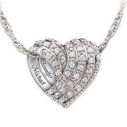 Personalized All My Love Silver Diamond Pendant