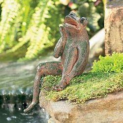 Singing Frog Statue