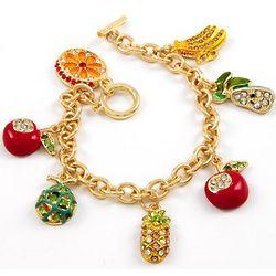 Fruit Stand Charm Bracelet