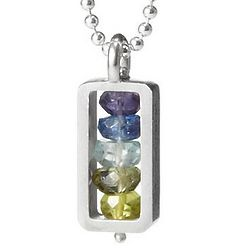 Handmade Vertical Stone Necklace