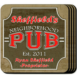 Personalized Neighborhood Pub Coasters