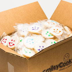 80 Individually Wrapped Nut Free Smiley Cookies