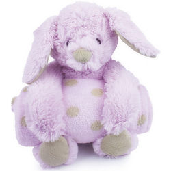 Pink Plush Bunny and Blanket Set