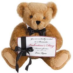 Teddy Bear Bearing Dinner Invitation