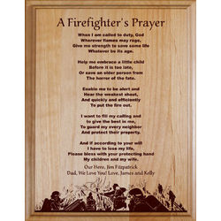 Firefighter's Prayer Personalized Wood Plaque