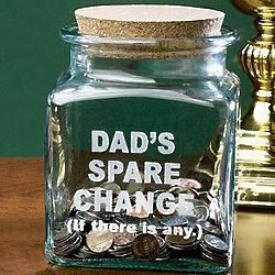 Personalized Dad's Spare Change Jar