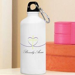 Personalized Cross My Heart Water Bottle
