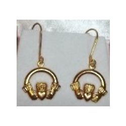 Claddagh Gold Leverback Earrings