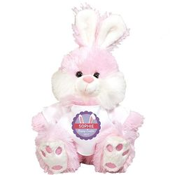 Personalized Bunny Ears Pink Easter Bunny Stuffed Animal
