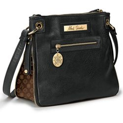 Alfred Durante Expandable Faux Leather Signature Handbag