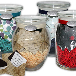 Customized Jar of Messages in Mini Envelopes