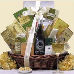 Valley of the Moon Pinot Blanc Sympathy Wine Gift Basket