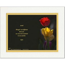 Wife or Girlfriend Poem Personalized Tulips Print