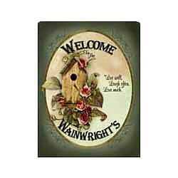 Personalized Birdhouse 2-Sided Garden Flag