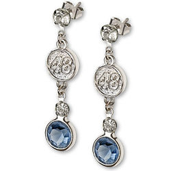 Jimmie Johnson #48 Crystal Earrings