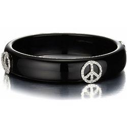 Peace Symbol Bangle Bracelet