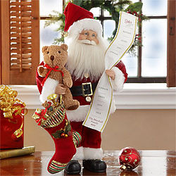 Personalized Santa with His List Figure