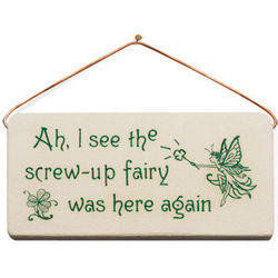 Screw Up Fairy Wall Plaque