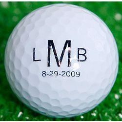 Roman Monogrammed Golf Ball