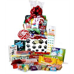 Paw Print Retro Candy Basket