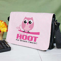 Give a Hoot Breast Cancer Awareness Shoulder Bag