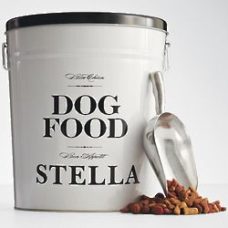 Personalized Bon Chien Dog Food Storage Canister