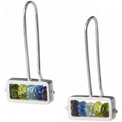 Handmade Horizontal Stone Earrings