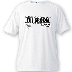 Personalized Bridal Party Men's Text Series T-Shirt