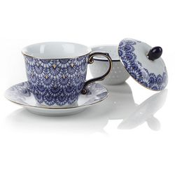 Decorated Porcelain Samara Infuser Mug