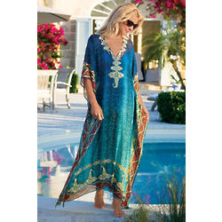 Cote d'Azur Embellished Caftan