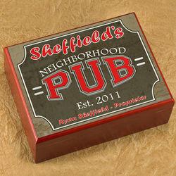 Personalized Neighborhood Pub Humidor