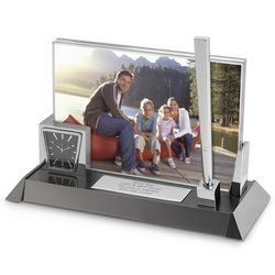 Personalized High Rise Single Pen Stand and Picture Frame