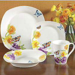 Butterfly Garden Dinnerware Set