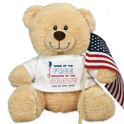 Home of the Free Personalized Teddy Bear