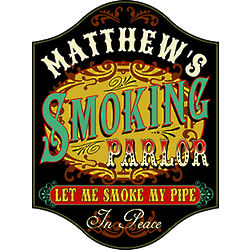 Handcrafted Smoking Parlor Sign