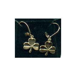 Shamrock Gold Leverback Earrings