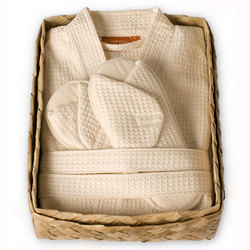 Waffle Weave Robe Gift Basket