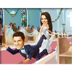 The Big Day Caricature Print from Photos