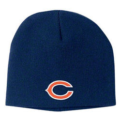 Kid's Chicago Bears Uncuffed Knit Hat
