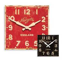 Newgate Classic Clock in Casino Red