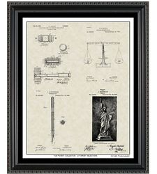 Patent Collection Legal Related Framed Print 16x20