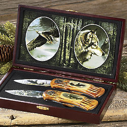 Personalized Wildlife Knife Set