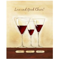 Good Cheer III Personalized Friendship Art Print