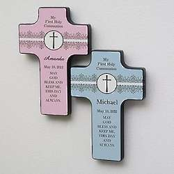 First Holy Communion Personalized Wall Cross